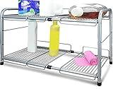 Surpahs Under Sink 2-Tier Expandable Cabinet Organizer Storage Shelf