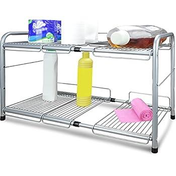 Amazon Com Decobros Under Sink 2 Tier Expandable Shelf