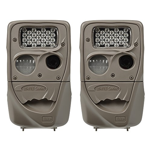 Cuddeback Moonlight 8MP Low Glo 75' Infrared Scouting Game Trail Camera, 2 Pack