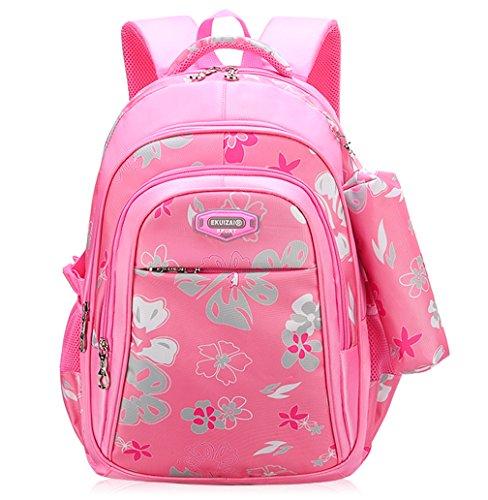 4fb7ee8c620 Backpack for Girls, Wraifa Flower Printed Primary Junior High School Bag  Bookbag