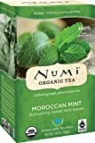 Numi Organic Tea Moroccan Mint, Full Leaf, Herbal Teasan, Caffeine Free, 18 Count non-GMO Tea Bags (Pack of 3)