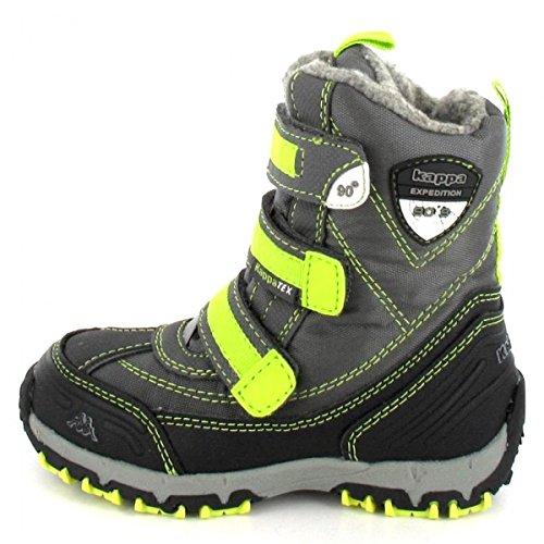Kappa BEN Tex Unisex-Kinder Hohe Sneakers Grau