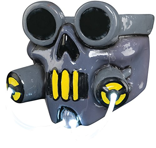 [Adult's Waste Light Up Biohazard Gas Mask Costume Accessory] (Gas Mask Costume Accessory)