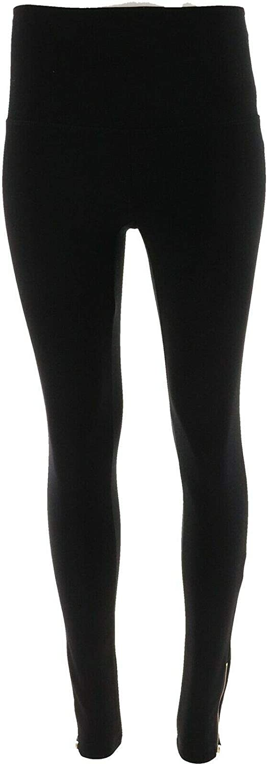IMAN Runway Chic Perfect Ponte 360º Slimming Legging LEOPARD L Long NEW 561-750