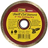 IVY Classic 38060 Swift Cut 4-Inch Dry and Wet Tile Cutting Continuous Rim Diamond Blade with 20mm - 5/8-Inch Arbor, 1/Card