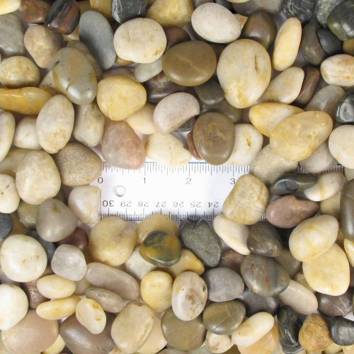 - Natural Polished Mixed Color Stones Small, Total Weight Approximately 5 pounds, Average Size 0.5