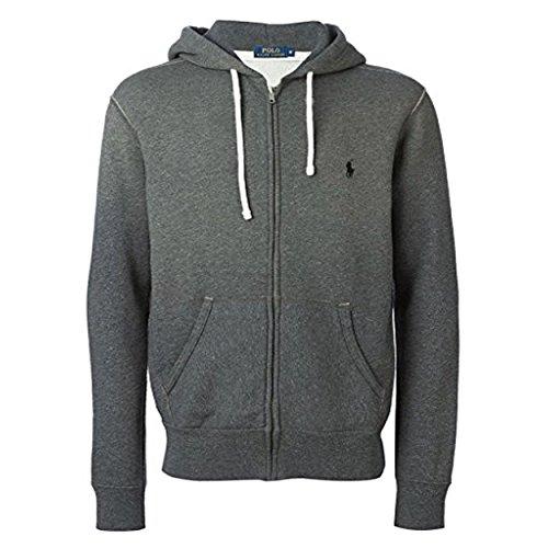 Polo Ralph Lauren Classic Full Zip Fleece Hooded Sweatshirt  Xx Large  Alaskan Heather