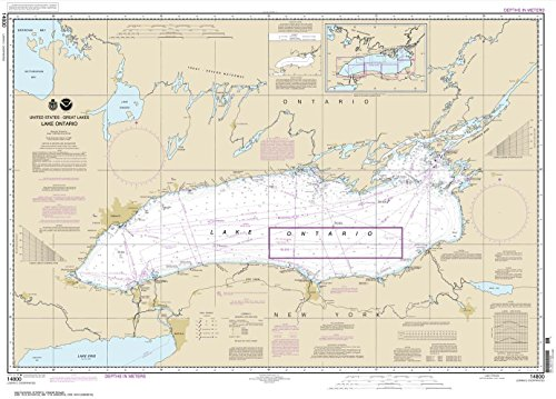 NOAA Chart 14800: Lake Ontario, 29.5 X 41.1, TRADITIONAL PAPER by Paradise Cay Publications