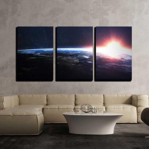 Earth image x3 Panels
