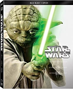 Cover Image for 'Star Wars Trilogy Episodes I-III (Blu-ray + DVD)'