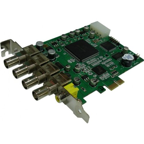 DiViS 120AE04 CCTV MPEG4 120fps 4 Channel PCI-Express Video DVR Capture Board