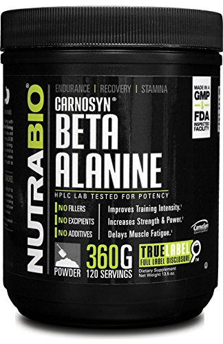 NutraBio 100% Pure Beta Alanine Powder  - 360 grams