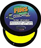 Fins Spectra 600-Yards Hollow Core Fishing Line, Yellow, 80-Pound