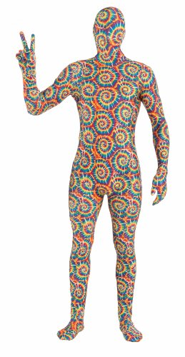 [Forum Novelties Men's Disappearing Man Patterned Stretch Body Suit Costume Tie Dye- Large, Rainbow,] (Tie Dye Dress Costume)