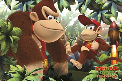 Donkey Kong Country Returns Donkey Kong Country Returns Platformer Game Cool Wall Decor Art Print Poster 36x24