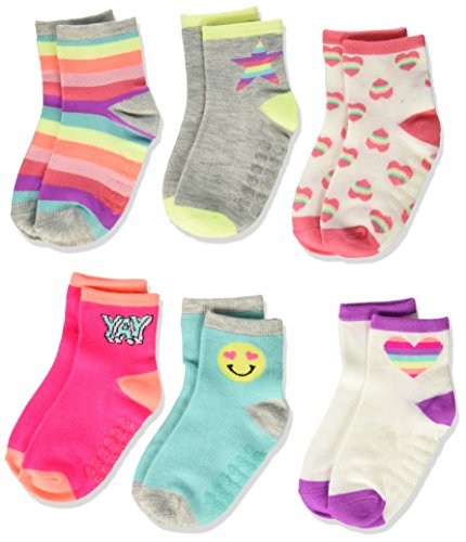 The Children's Place Girls' Midi Socks (6-Pack),Emoji,12-24 Months