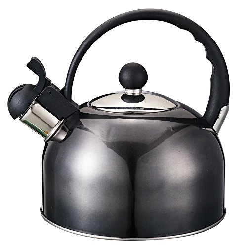 2L Water Kettle Fashion Durable Hot Sale Stainless Steel Whistle white Tea Kettle With Handle Black
