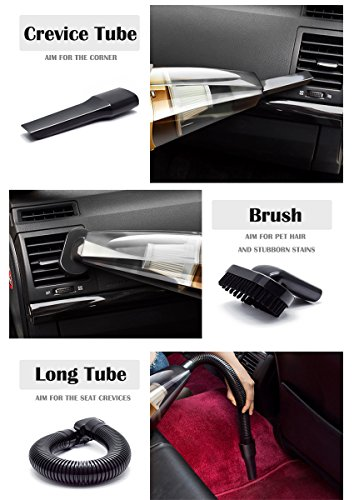 Car Accessories Car Vacuum Cleaner Hand Held Vacuum Wet Dry DC 12V Vacuum High Power Vacuum with Tire Inflator and LED for Lighting - HEPA Filter by LECHEBANG (Image #5)'