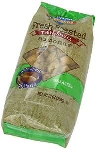 Blue Diamond Almonds Fresh Roasted Thin Shell Unsalted Almonds, 10 Ounce