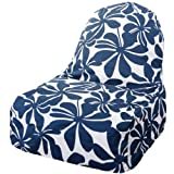 Majestic Home Goods Kick-It Chair, Plantation, Navy Blue Review and Comparison