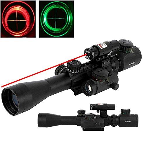 IWIN Mall Riflescope 3 in 1 Combo Optics 3-9X40EG Red Green Illuminated Military Sniper Sight Tatical Hunting Rifle Scope Holographic Reticle Dot Sight