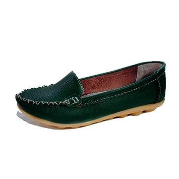 2b1d96f8db3bb Amazon.com: DETAIWIN Women's Penny Shoes Slip On Leisure Round Toe ...