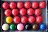 Iszy Billiards Snooker Ball Set, 2 1/16-Inch, Pack of 22