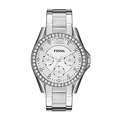 Fossil Women's Riley Stainless Steel Chronograph Glitz Quartz Watch by Fossil