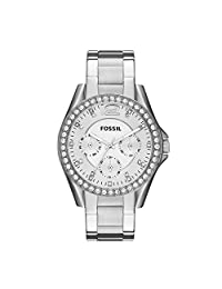 Fossil Women's ES3202 Riley Silver-Tone Stainless Steel Watch with Stainless Steel Bracelet