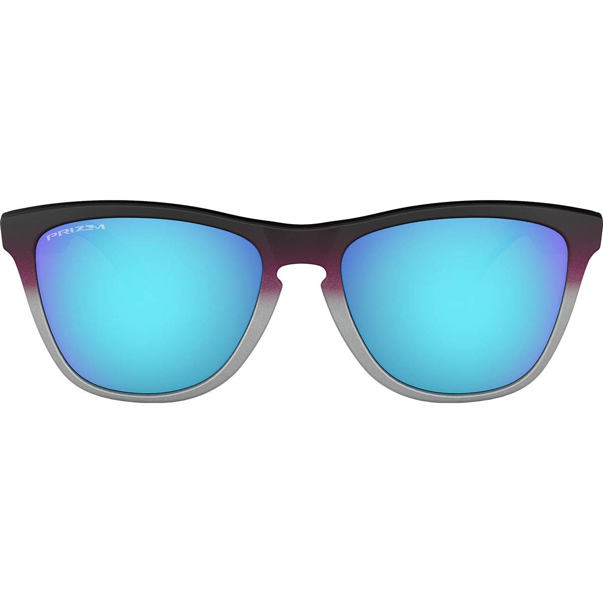 76486d369 Amazon.com: Oakley Men's Frogskins Non-Polarized Iridium Square Sunglasses,  Black, 54.7 mm: Clothing
