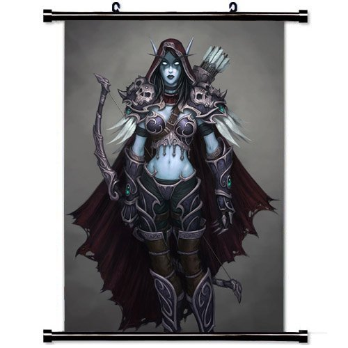 Home Decor Art Movie Poster with Sylvanas Windrunner World Of Warcraft Game Wall Scroll Poster Fabric Painting 23.6 X 35.4 Inch (60cm X 90 cm) (World Of Warcraft Poster compare prices)
