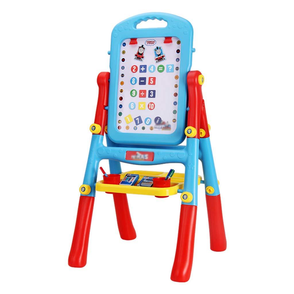 Cavalletto per bambini, tipo di supporto a doppia faccia tavolo da disegno casa cavalletto pieghevole magnetico per bambini da disegno per bambini strumenti di educazione precoce sollevamento lavagna