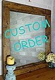 Custom Farmhouse Frame - To Hold a 26x26 photo (no glass) Jacobean Stain