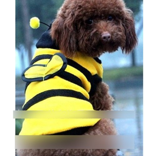 HuntGold Cute Lovely Pet Puppy Dog Cat Supplies Cloth Bumble Bee Design Dress Up Costume(8#) - Puppy Bumble Bee Costume