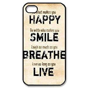 DIY High Quality Case for iPhone 5 5s, Happy Life Phone Case - HL- 5 5s03172