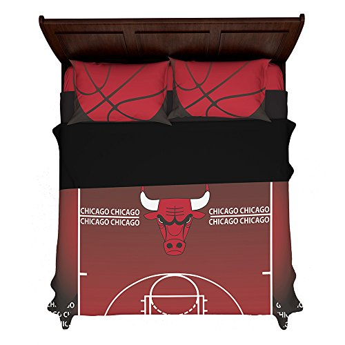 Articouture Customizable Chicago Basketball 2nd Generation Fan Made Duvet Bedding Set with Pillowcases (King (2 Shams) 104