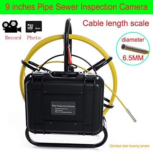 9インチ工業用パイプライン下水道検知カメラIP68防水排水検知1000 TVL DVR機能,100M  100M
