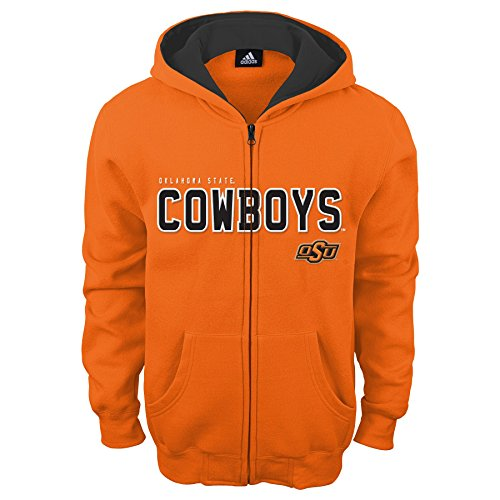 NCAA Oklahoma State Cowboys Boys Stated Full Zip Hoodie, Large (14-16), (Cowboy Kids Sweatshirt)