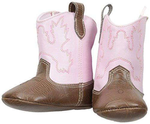 Cowboy Booties - Mud Pie Baby Seasonal Booties, Pink Cowboy, 0-6 Months