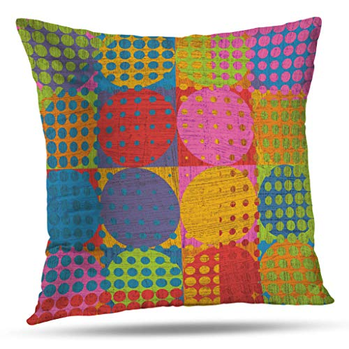 oo Decorative Throw Pillow Covers, Abstract Art Contemporary Wallpaper Modern Abstract Grunge Cushion Cover 18X18 Inch for Bedroom Sofa ()