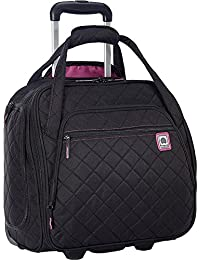 Delsey Quilted Rolling Underseat Bag For Carry-On Fits...
