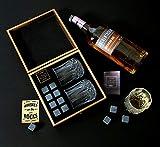 Whiskey Stones Gift Set - 8 Natural Granite