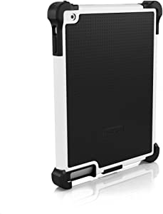 Ballistic Tough Jacket Case with Video Stand for iPad 2 (Released 2011) iPad 3 (Released 2012) and iPad 4 (Released 2013) - Retail Packaging - Black/White (Not for iPad Air Models)