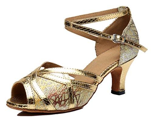 Tda Kvinners Formelle Skoleball Peep Toe Glitter Syntetisk Tango Ballroom  Salsa Latin Dans Bryllup Sko 6cm
