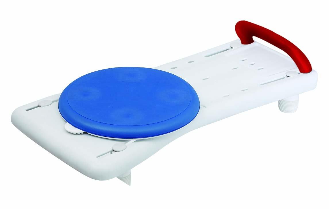 HESTEC 25342 Planche de Bain Siège Rotatif Plastique Blanc-Bleu 71 x 35 x 17 cm