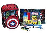 Marvel Backpack Preassembled with School Supplies – Spiral Notebooks, Folders, Art, Writing, Stickers