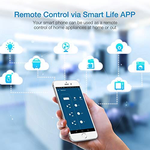 POWERADD Smart Power Strip WiFi Plug Multi Outlet Power Strip with USB Ports,Compatible with Alexa Echo & Google - Black