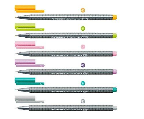 staedtler-triplus-fineliner-03mm-pack-of-six-pastel