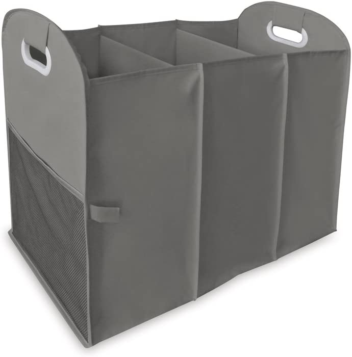 Homz Accordion Laundry Sorter, 3 Load Capacity, Grey