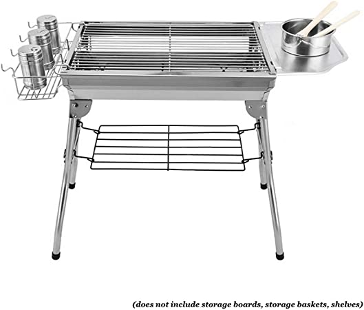 Portable Outdoor Camping Barbecue Folding BBQ Grill Cooking Stainless Steel